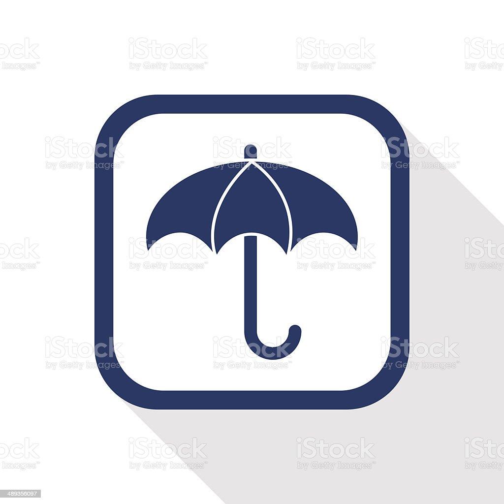 umbrella flat icon vector art illustration