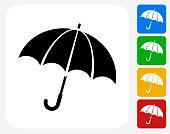 Umbrella Icon Flat Graphic Design