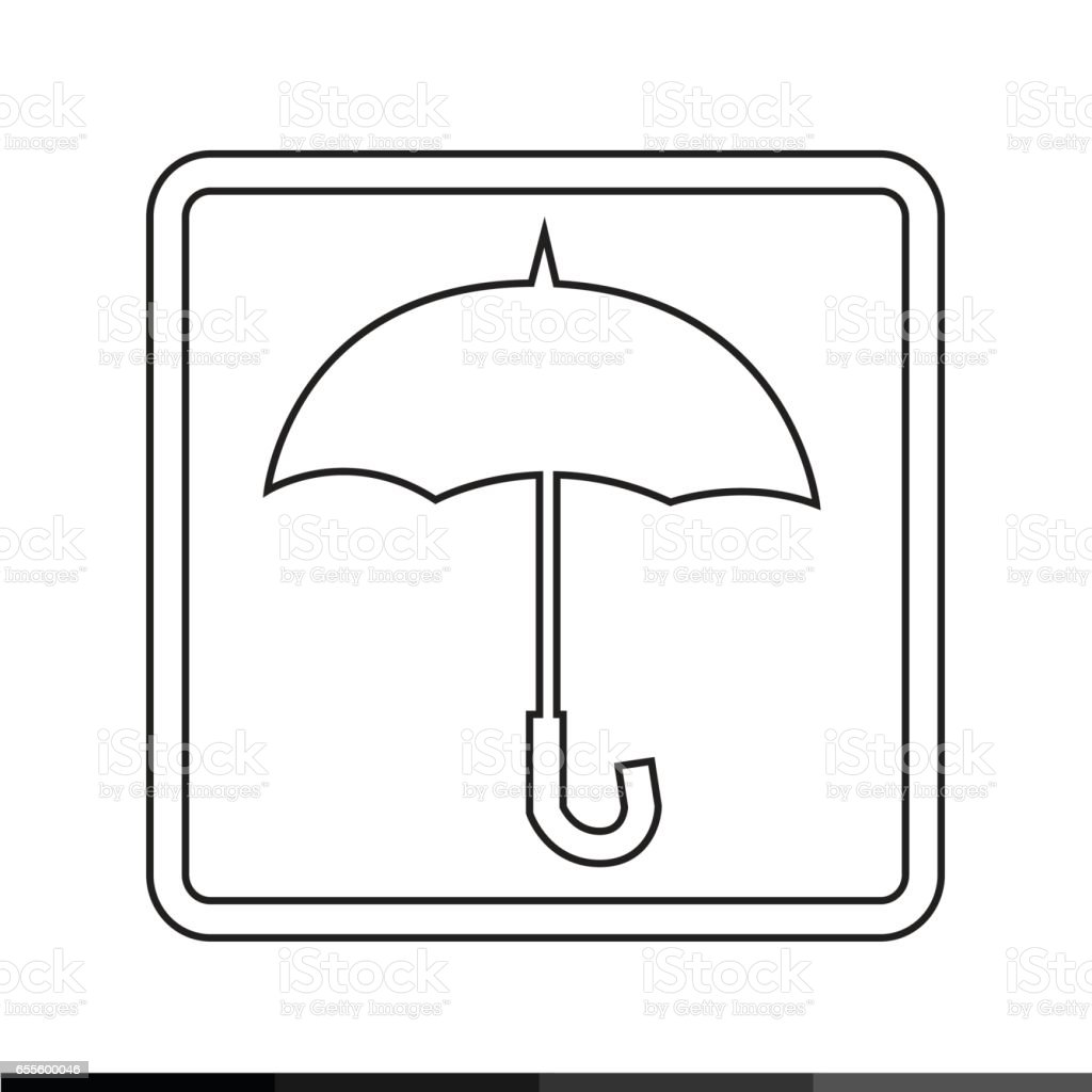 Umbrella Icon illustration design vector art illustration