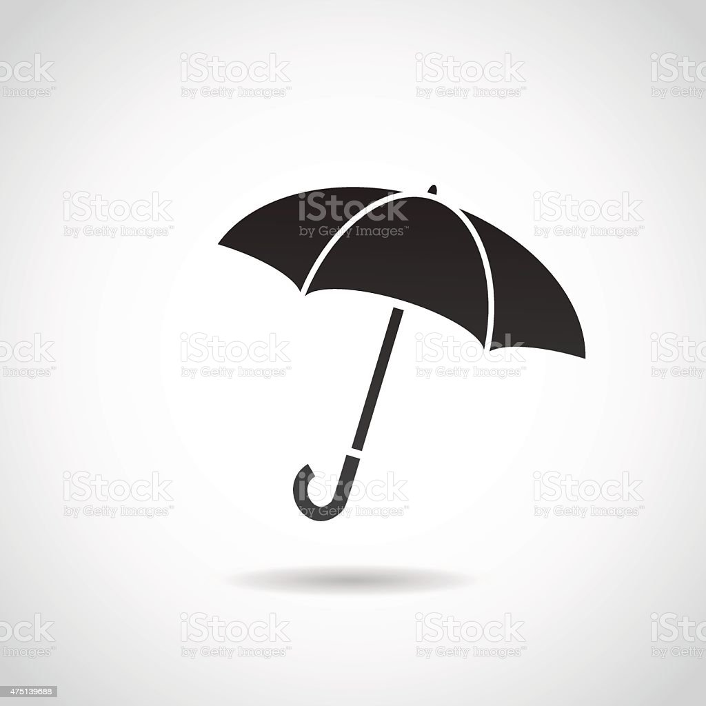 Umbrella icon. vector art illustration