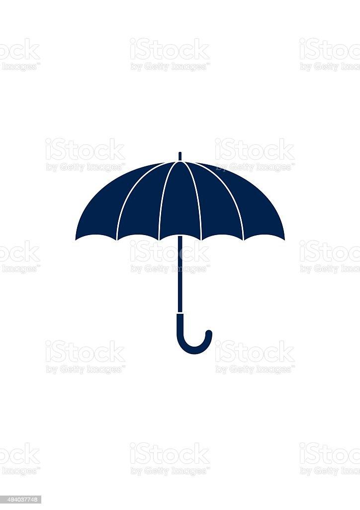 Umbrella sign Icon. Flat design style. vector art illustration