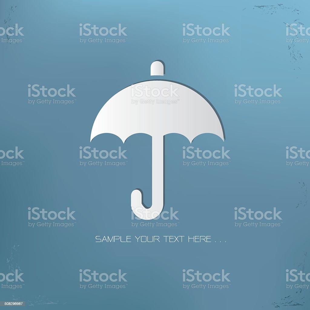 Umbrella symbol,vector vector art illustration