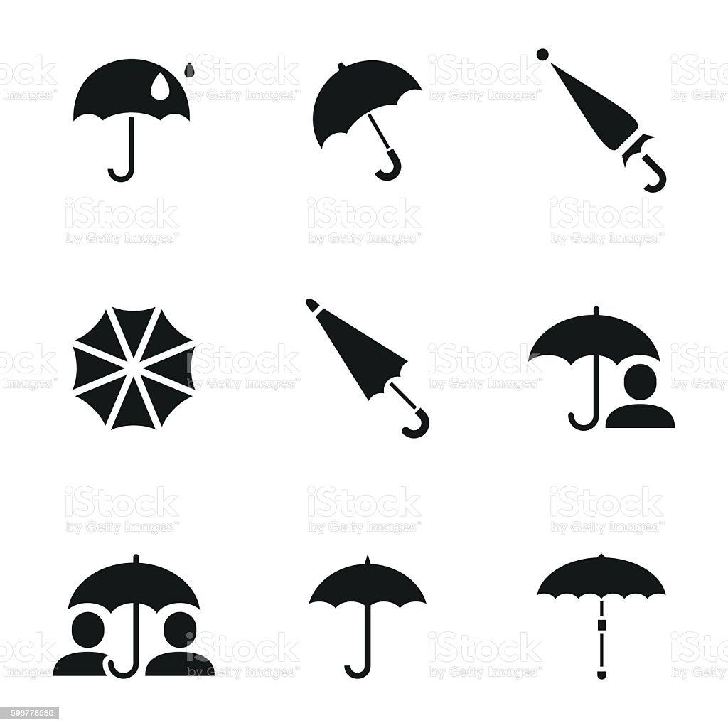 Umbrella vector icons vector art illustration