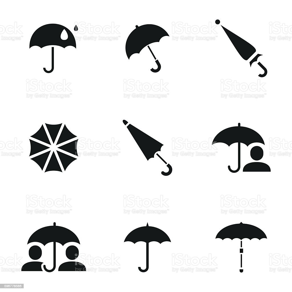 Umbrella vector icons vector art illustration