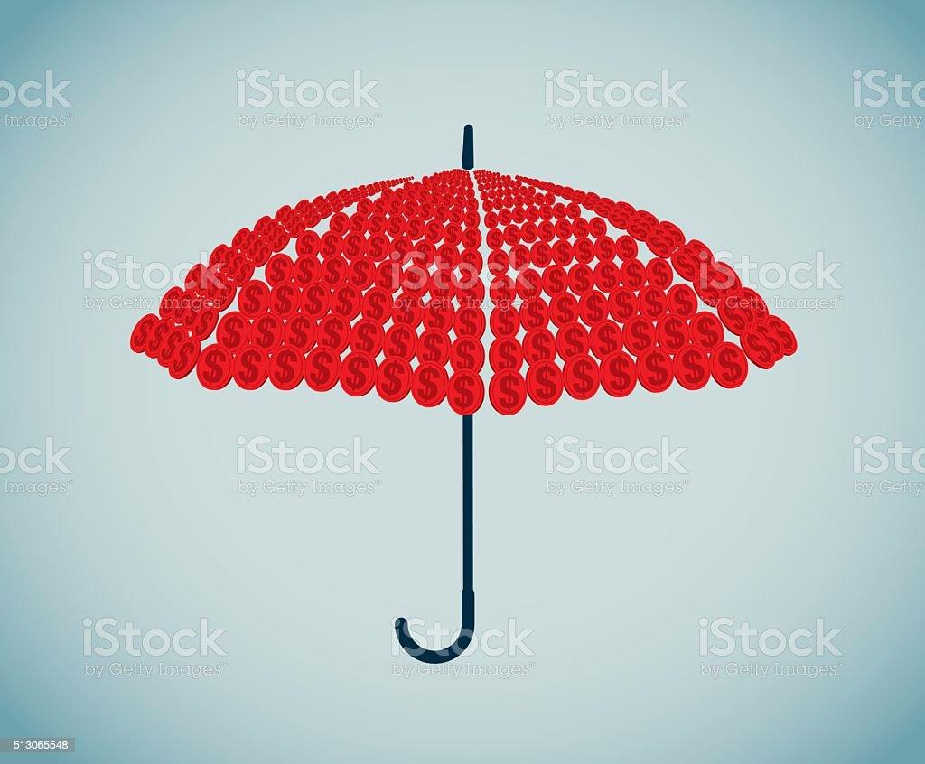 Umbrella vector art illustration