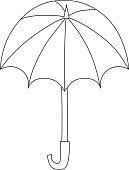 Umbrella vector isolated icon
