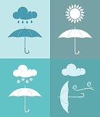 Umbrella. Weather. Icon