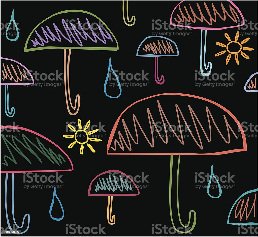 Umbrellas' and weather 2 royalty-free stock vector art