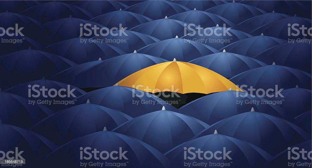 Umbrellas - Protection, Business Concept Background vector art illustration