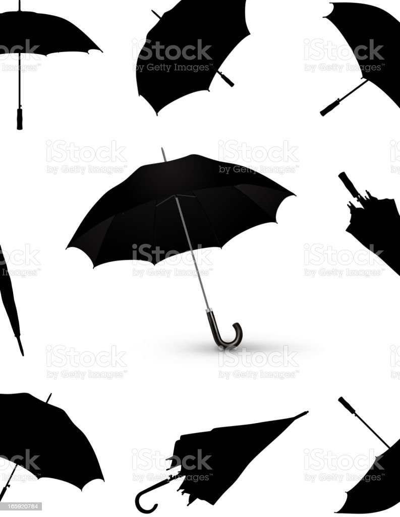 Umbrellas royalty-free stock vector art