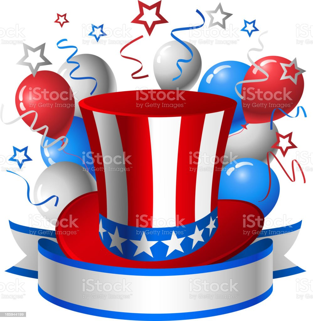 Uncle Sam Hat royalty-free stock vector art