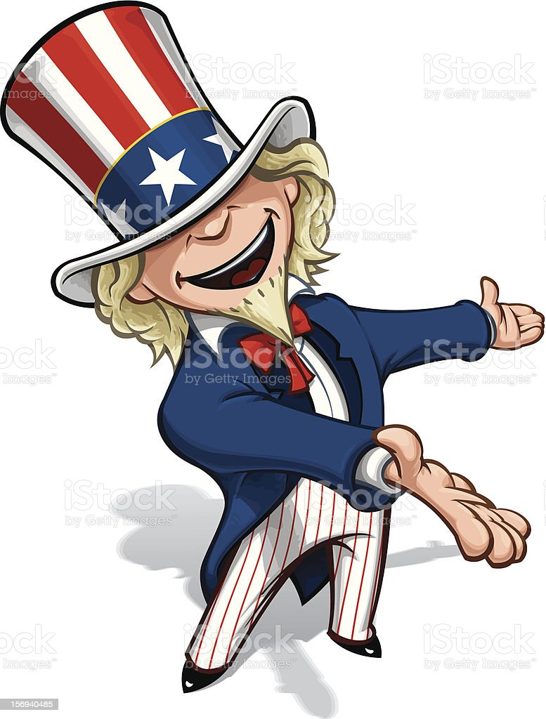 Uncle Sam Presenting royalty-free stock vector art