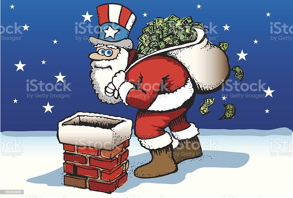 Uncle Sam Santa royalty-free stock vector art