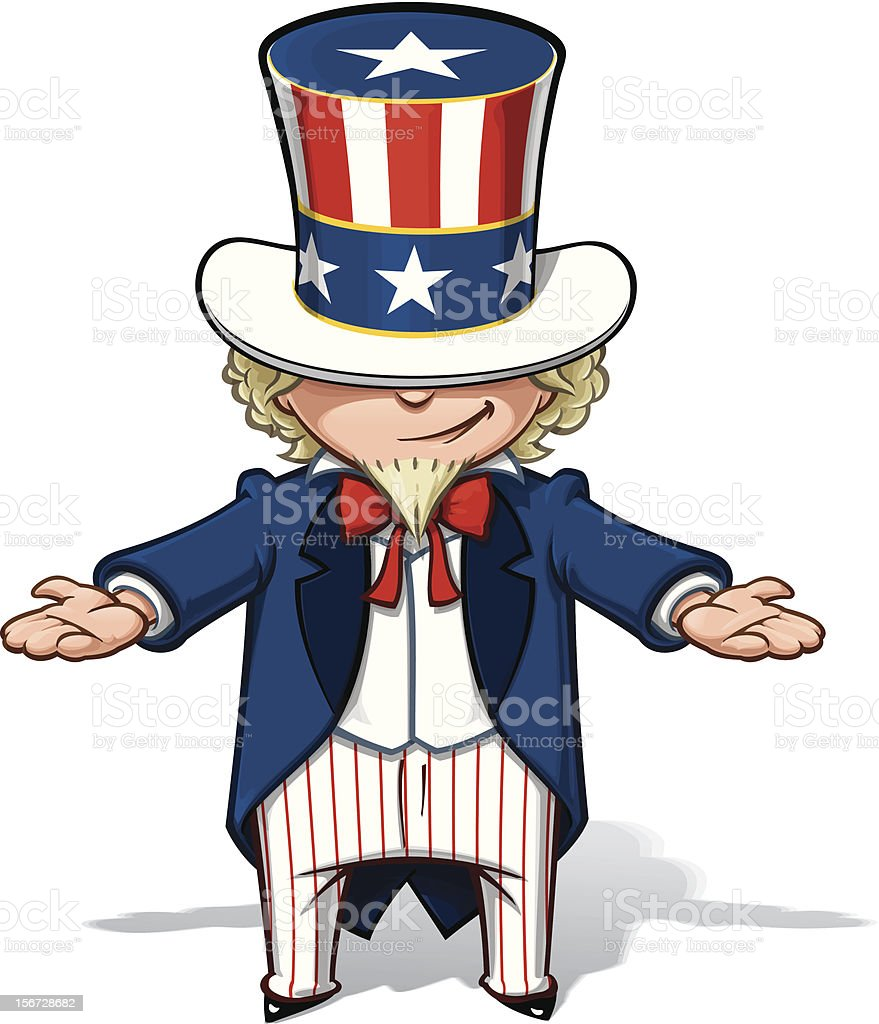 Uncle Sam Showing royalty-free stock vector art