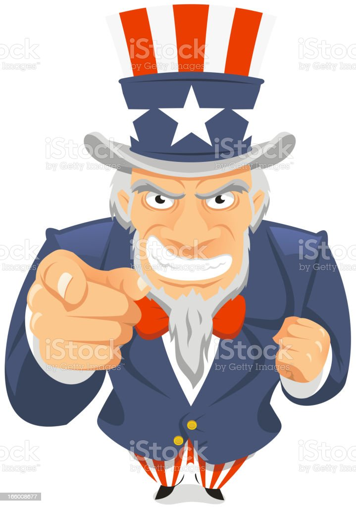 Uncle Sam Wants You royalty-free stock vector art