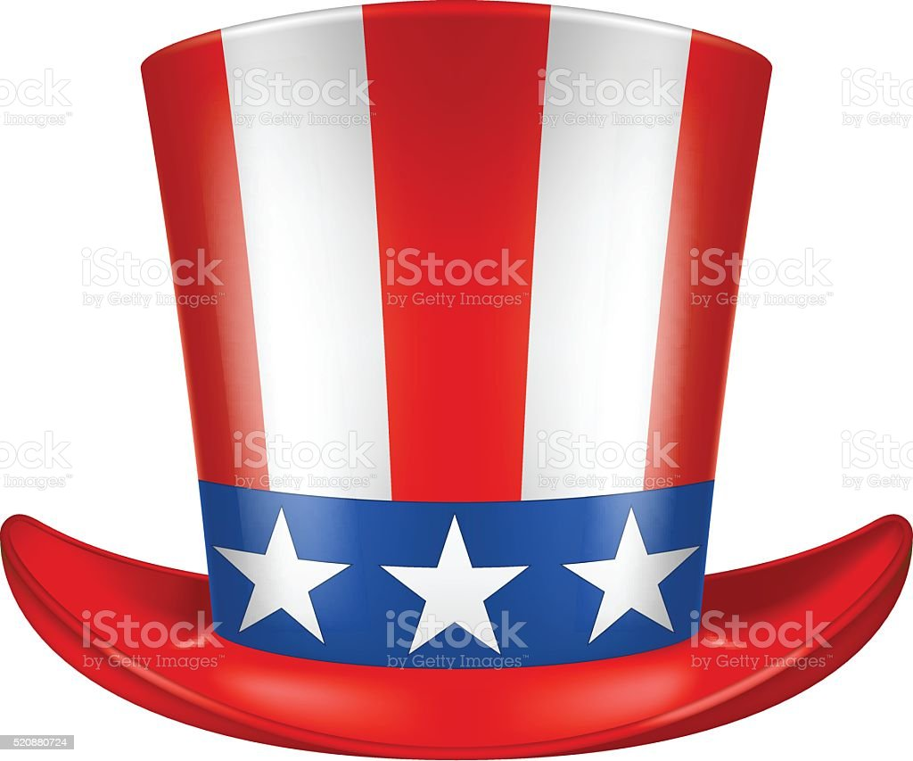 Uncle Sam's hat. vector art illustration
