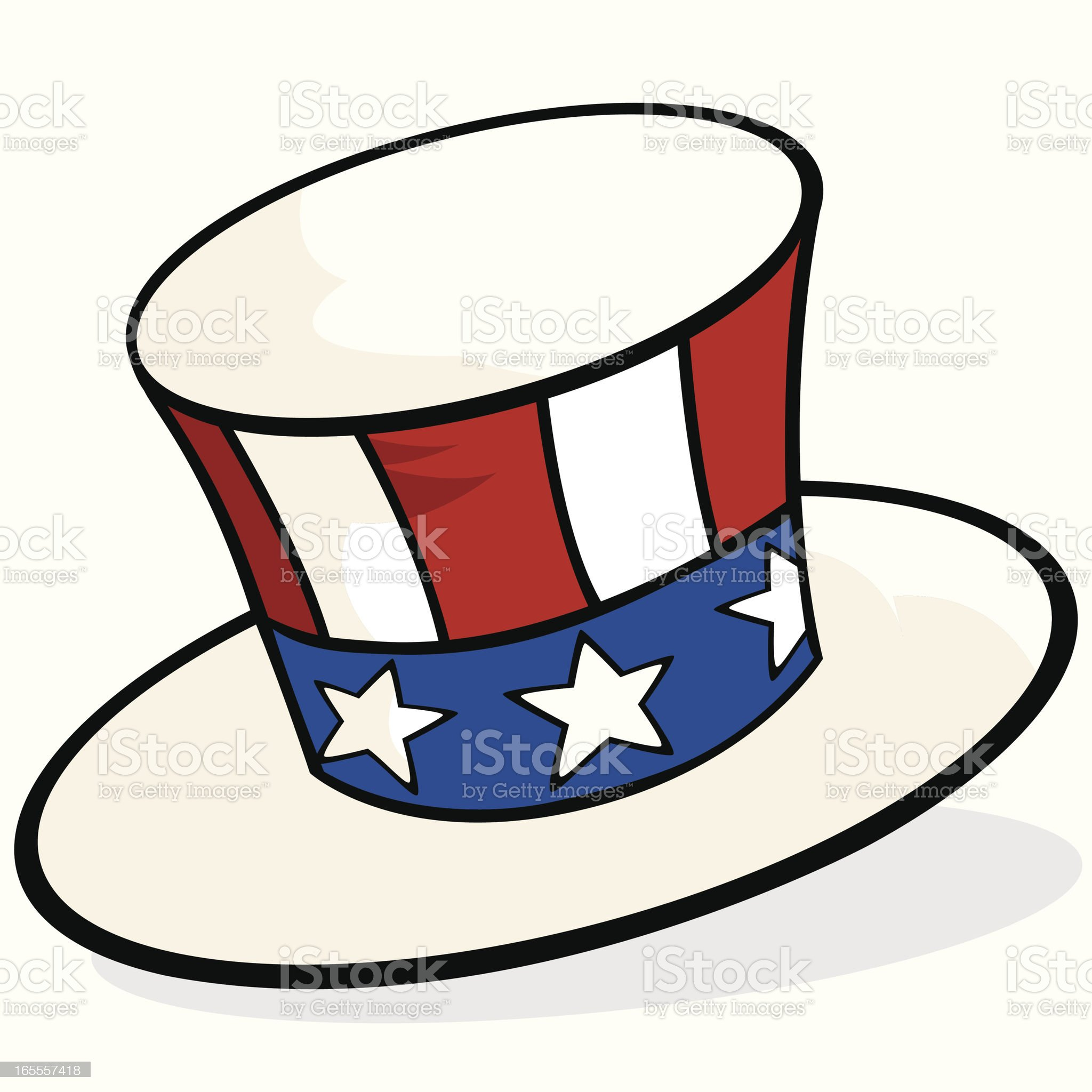 Uncle Sam's Top Hat royalty-free stock vector art