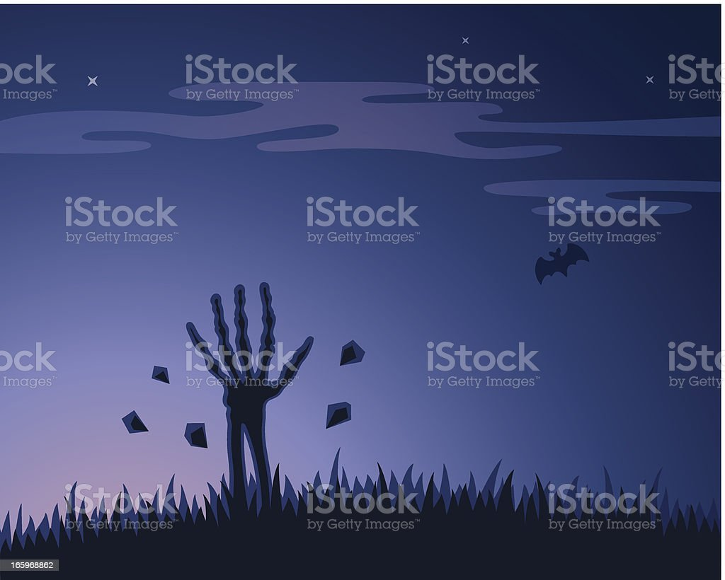 Undead gets out royalty-free stock vector art