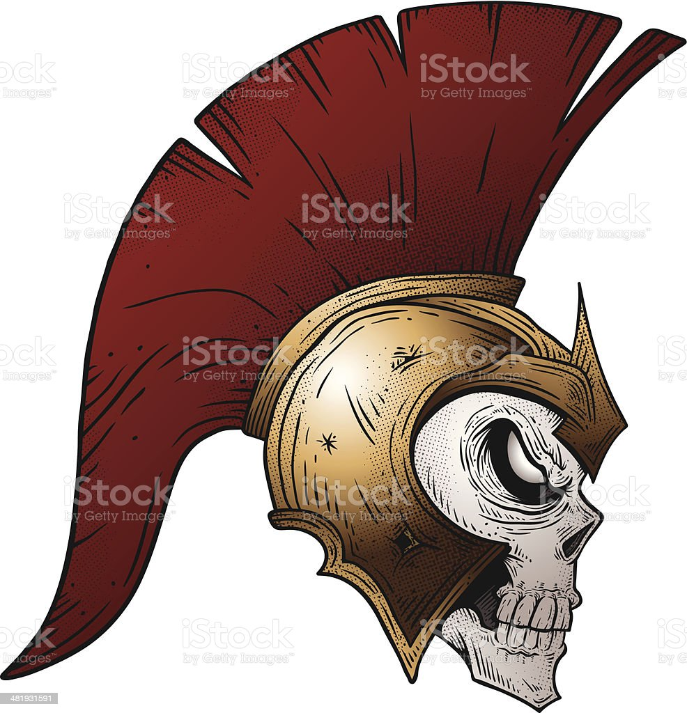 Undead Trojan Warrior vector art illustration