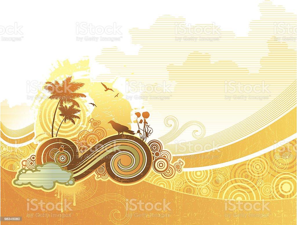 Under a scorching sun royalty-free stock vector art