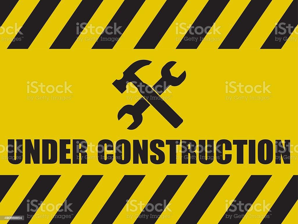 Under Construction Background vector art illustration