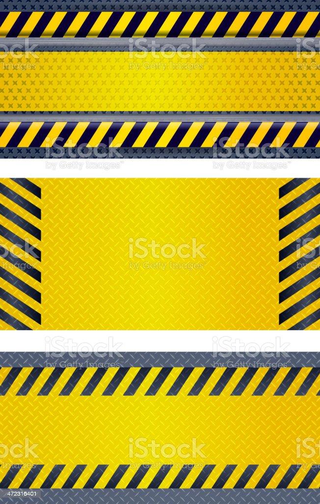 Under Construction, Danger Banners royalty-free stock vector art