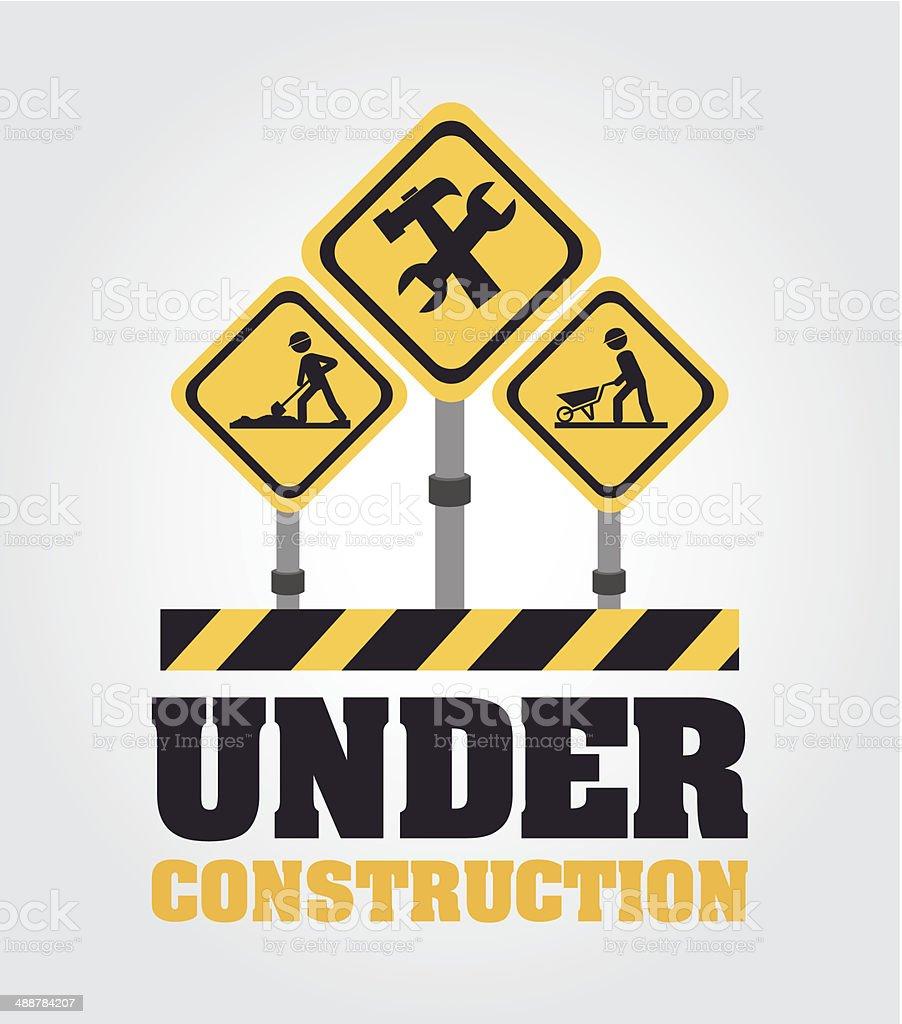 Under Construction design vector art illustration