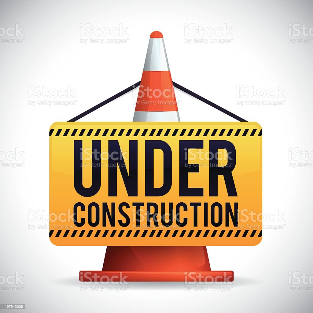 Under construction design, vector illustration. vector art illustration