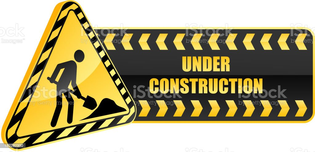 Under construction icon royalty-free stock vector art