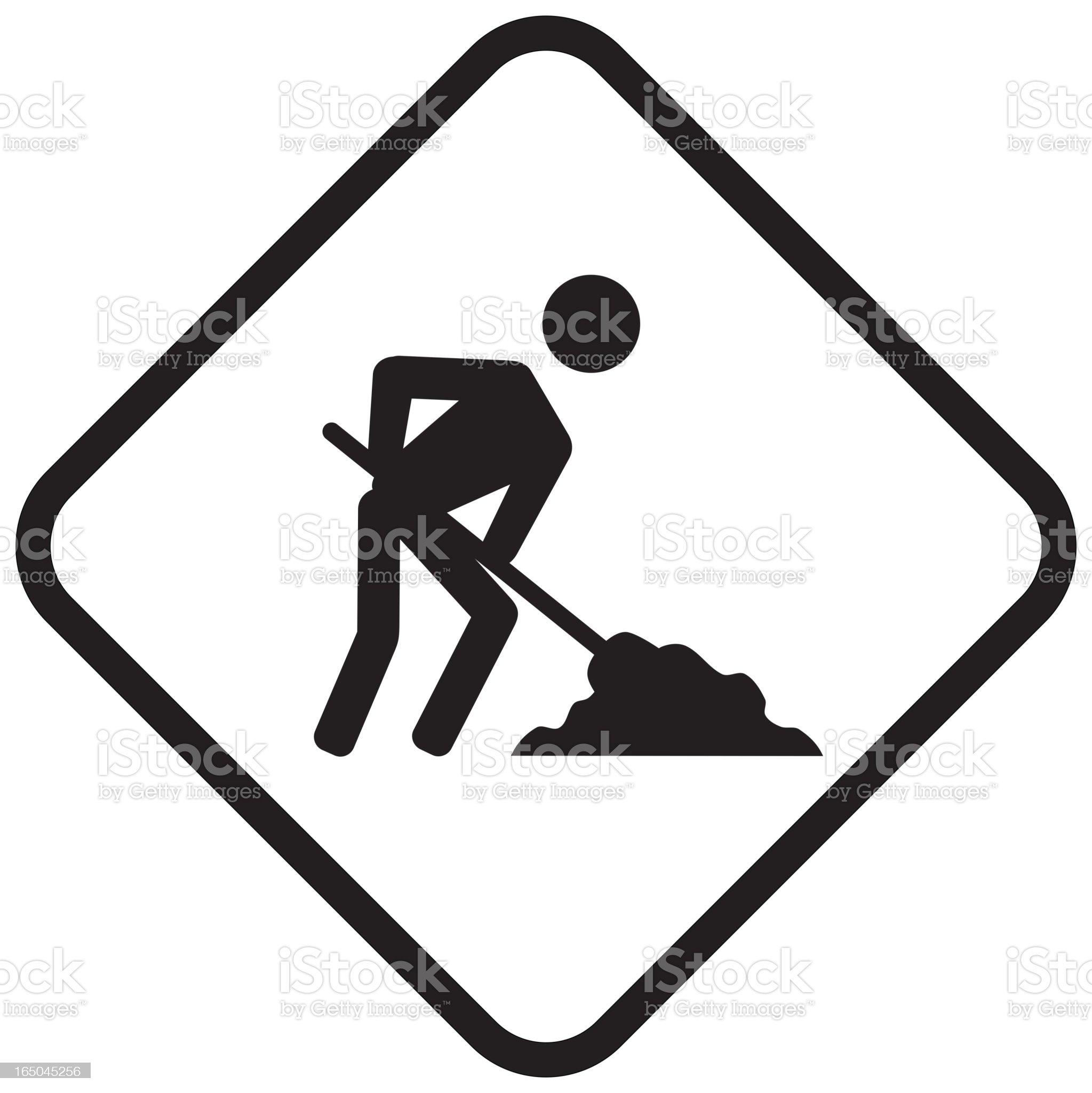 'under construction' icon royalty-free stock vector art