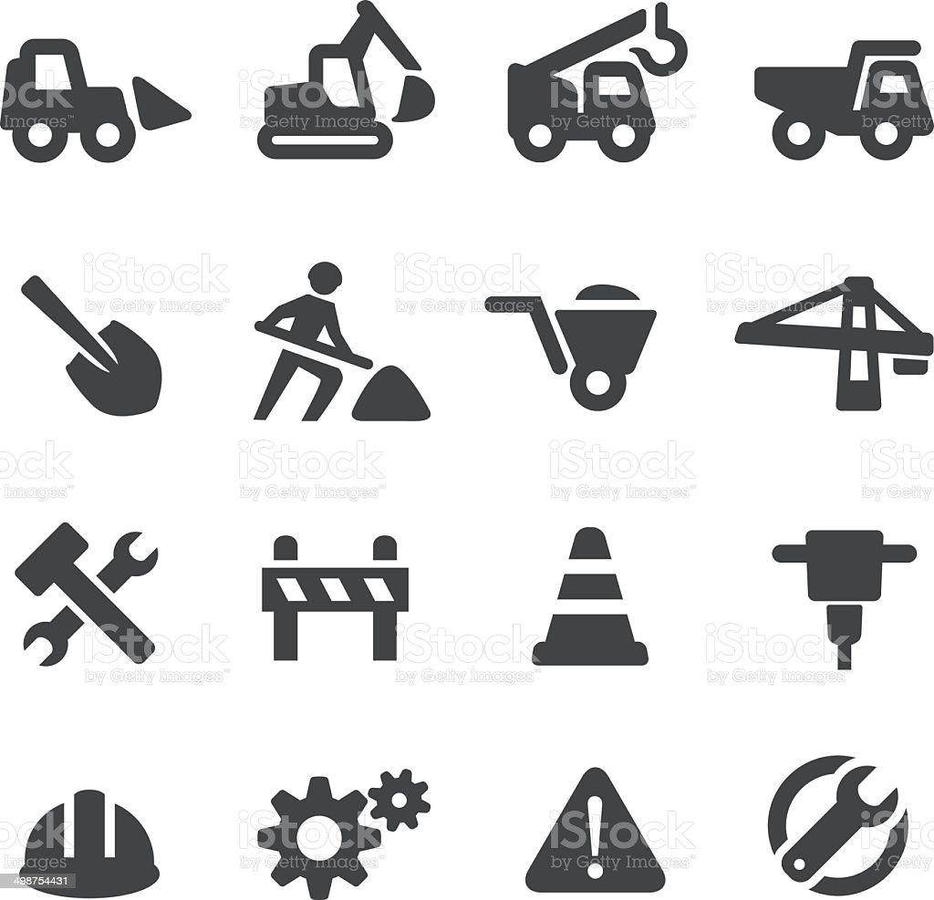 Under Construction Icons - Acme Series vector art illustration
