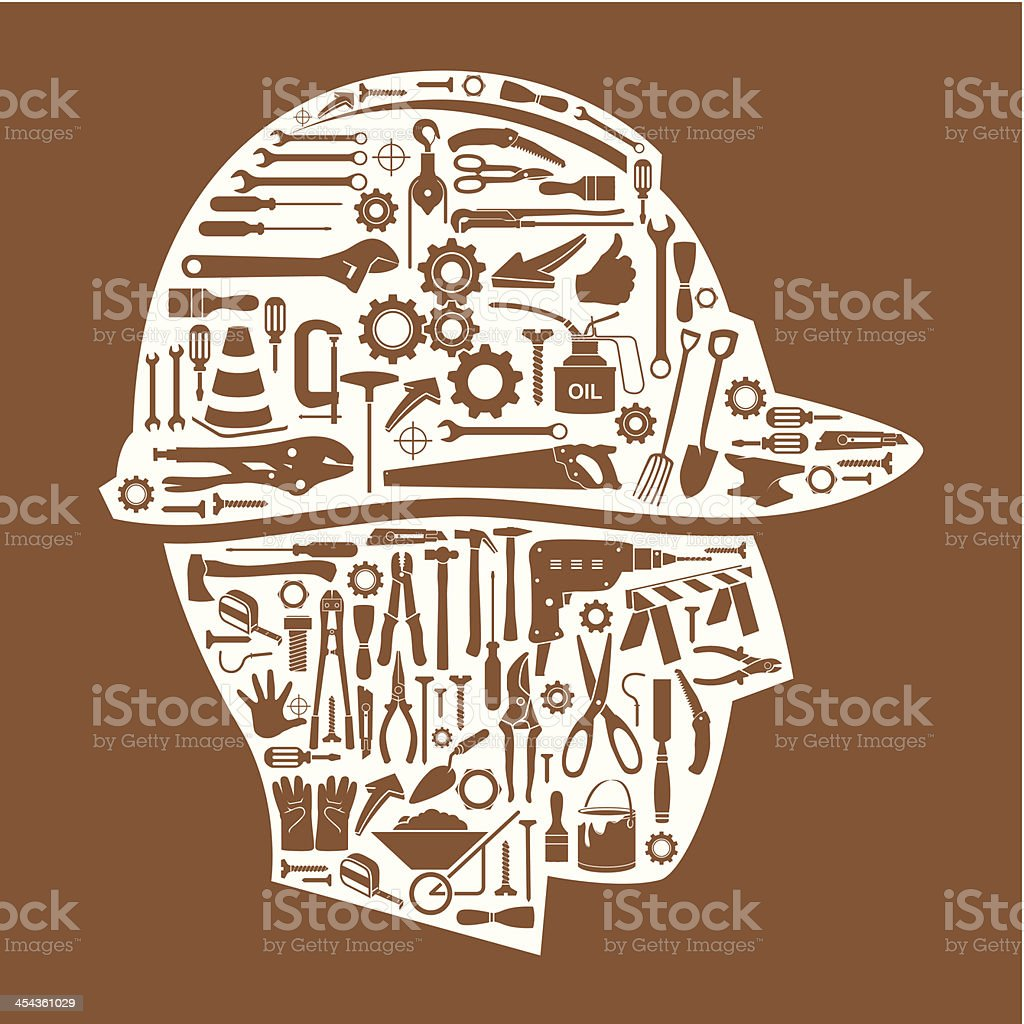 Under construction icons set. vector art illustration