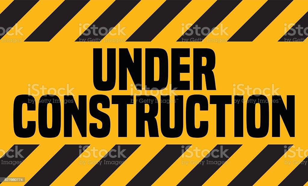 Under Construction Industrial Sign. vector art illustration