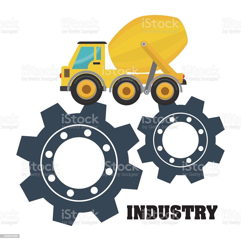 Under construction industry vector art illustration