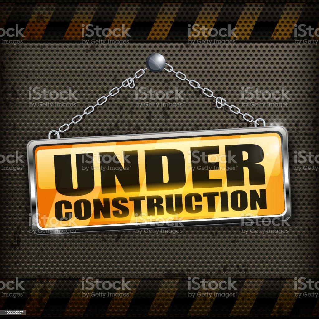 Under construction sign black royalty-free stock vector art