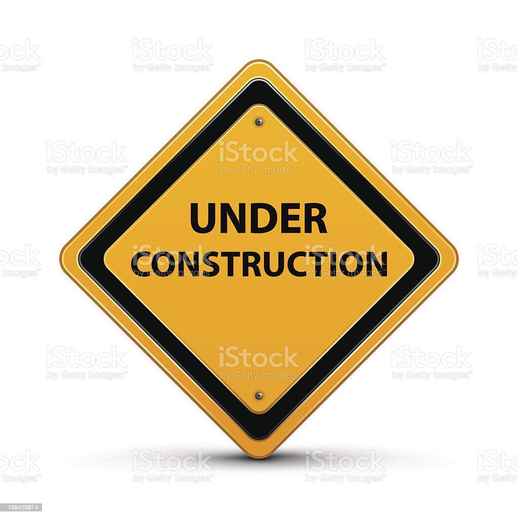 Under Construction Sign vector art illustration