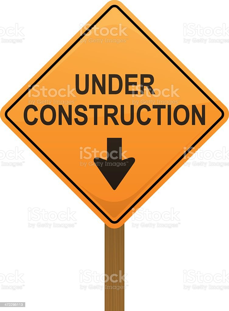 Under Construction Sign royalty-free stock vector art