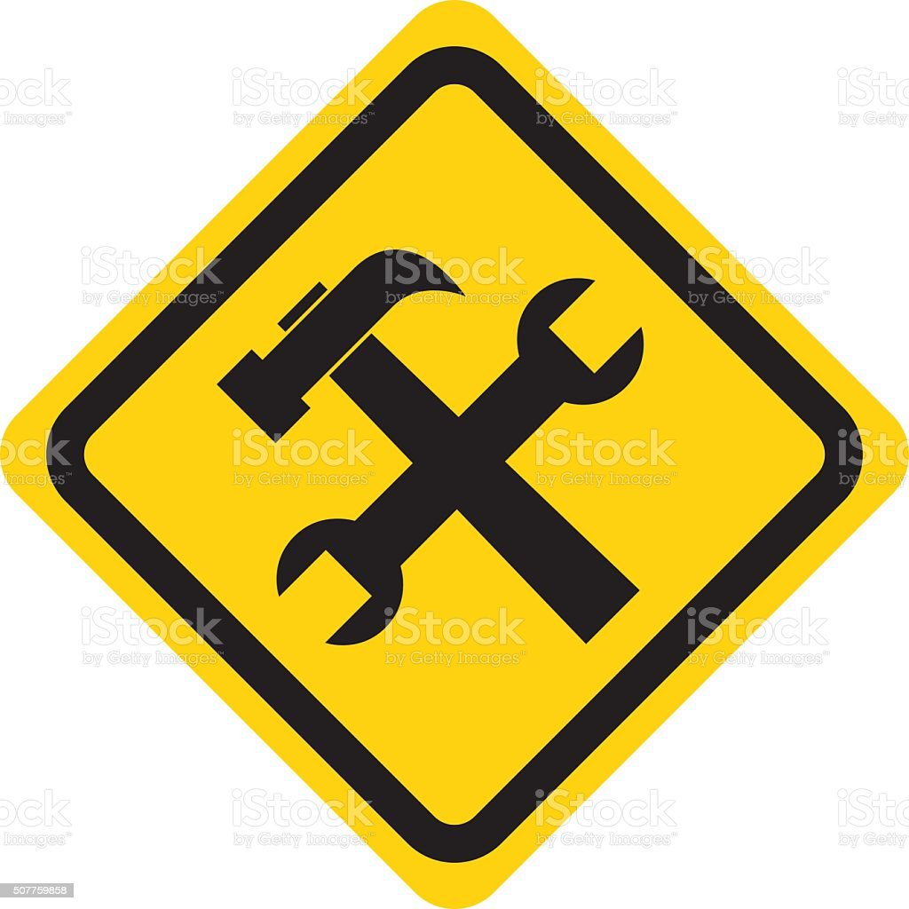 Under Construction Sign vector art illustration