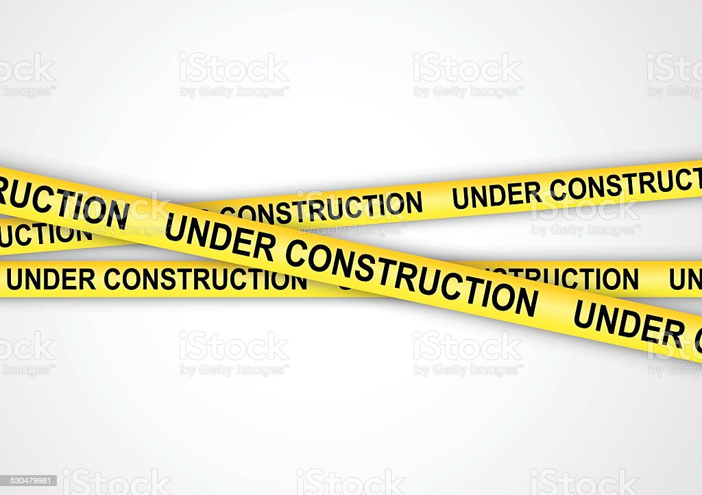 Under construction tapes vector art illustration