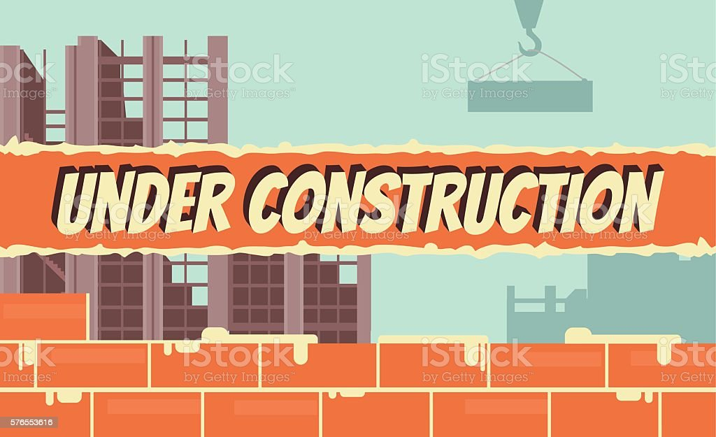 Under construction. Vector flat cartoon illustration vector art illustration