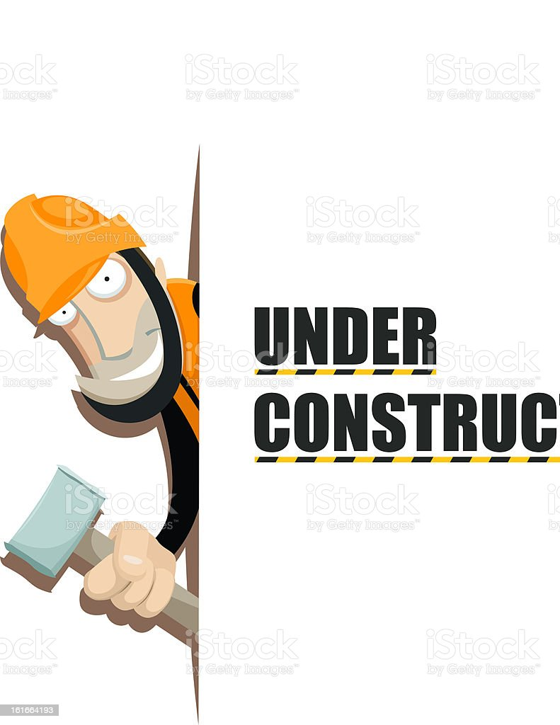 Under construction royalty-free stock vector art