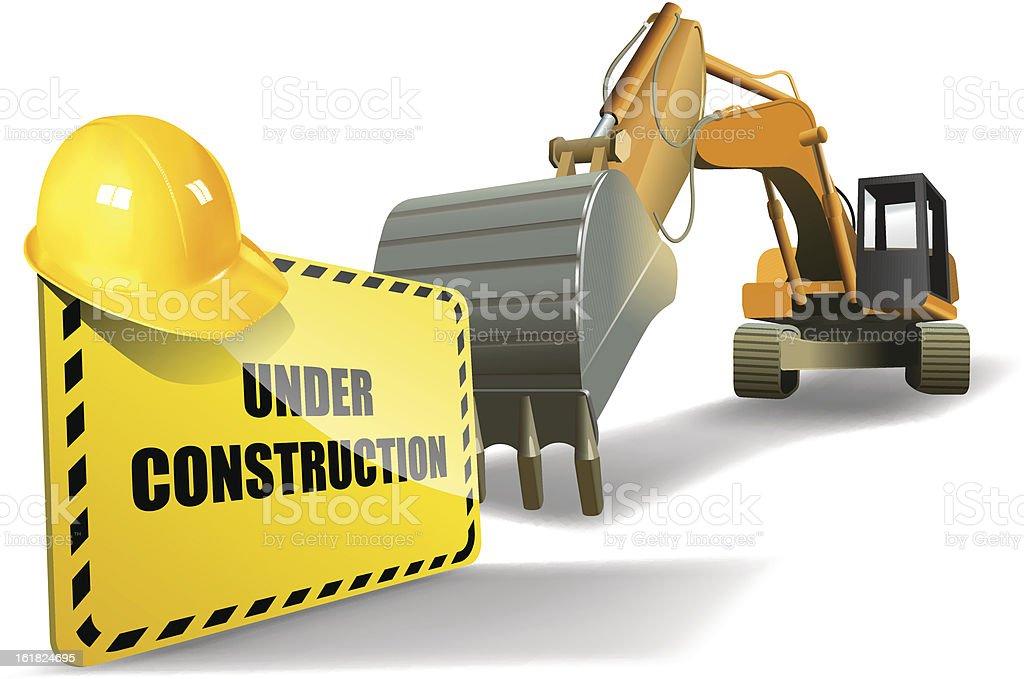 under construction royalty-free stock vector art