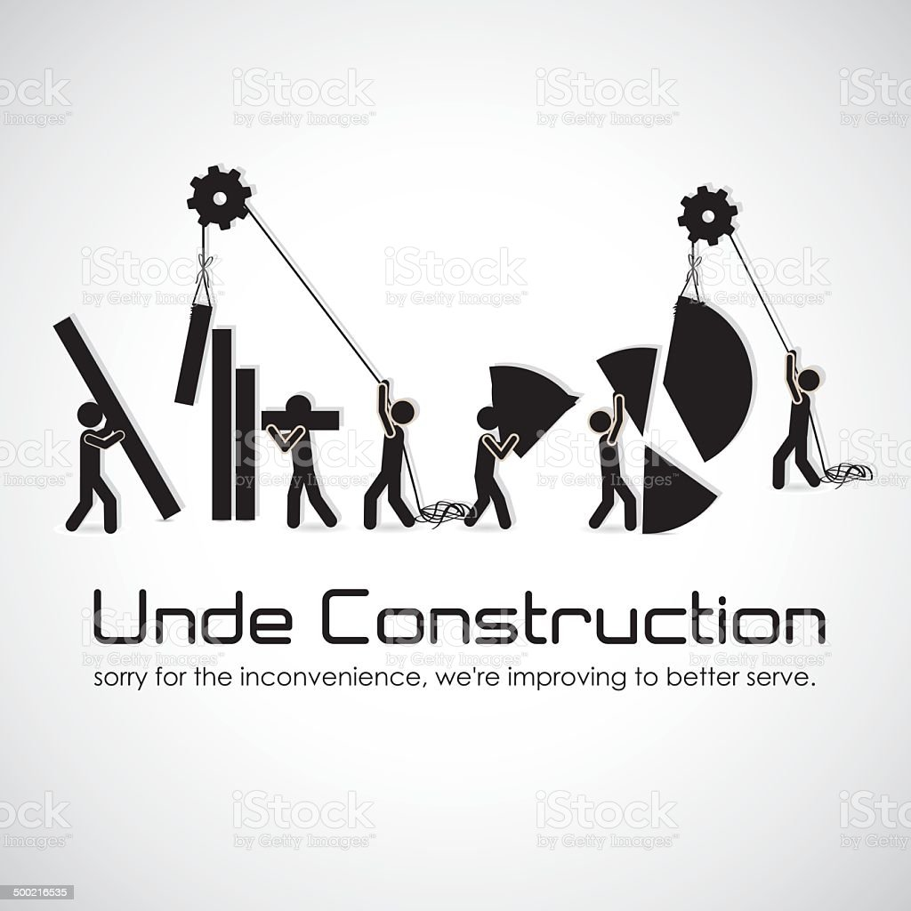 under construction vector art illustration