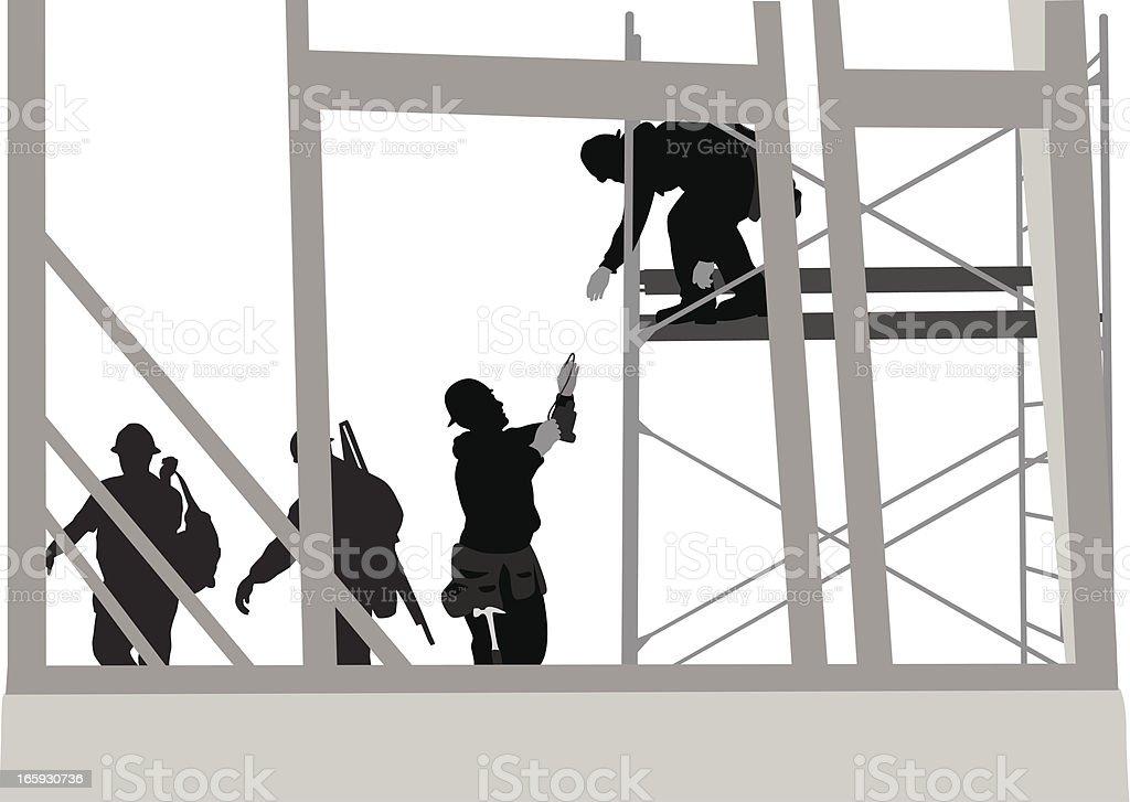Under Construction Vector Silhouette royalty-free stock vector art