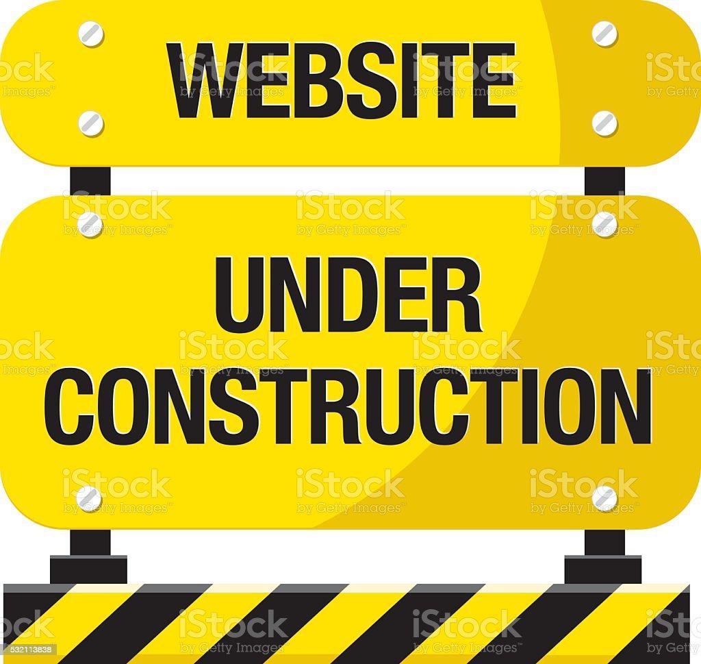 Under construction warning vector art illustration