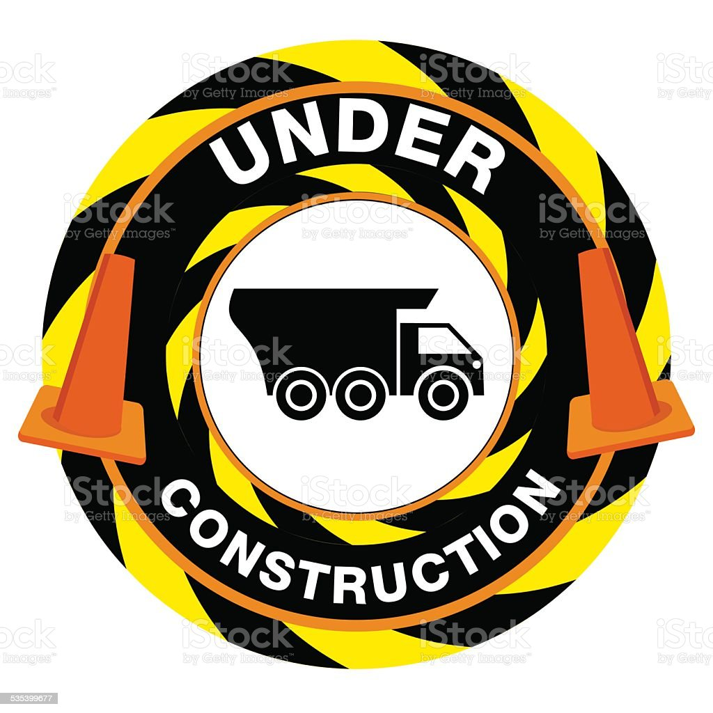Under Construction Warning vector art illustration