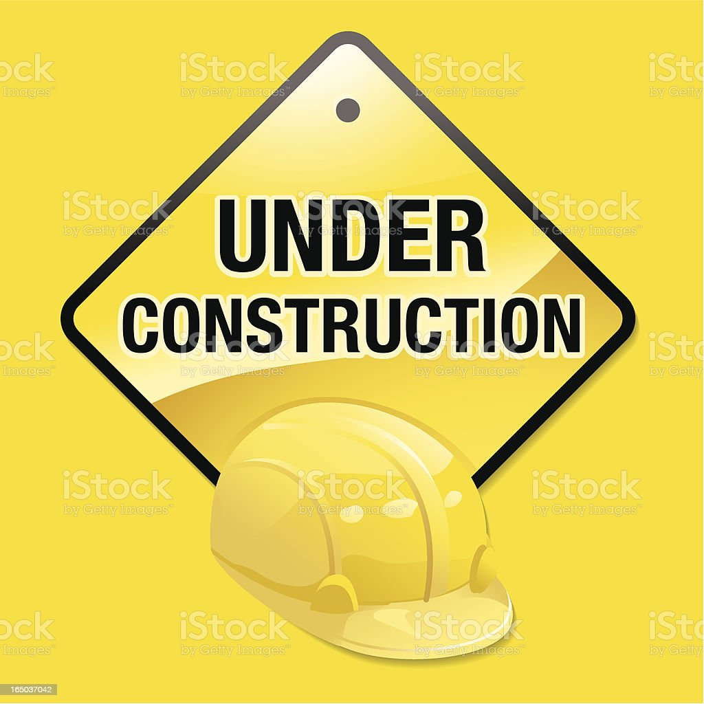 Under Construction Yellow royalty-free stock vector art