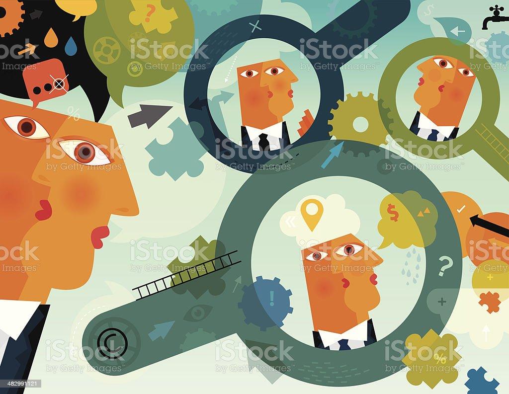 Under Inspection vector art illustration