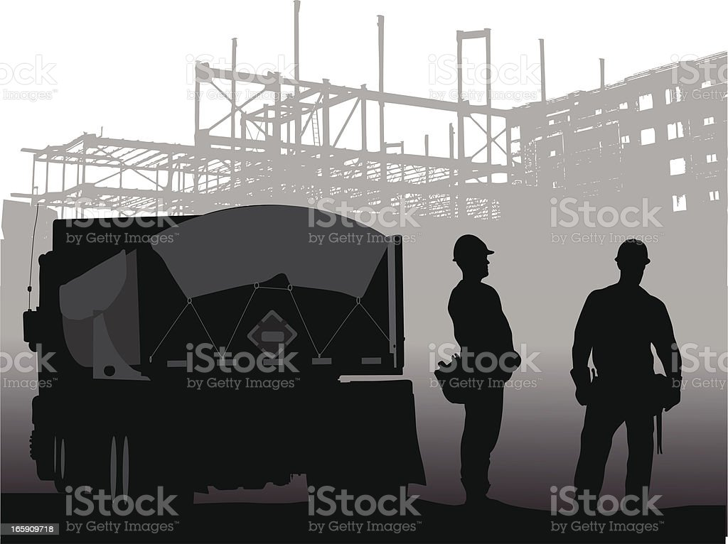 Under Progress Vector Silhouette royalty-free stock vector art