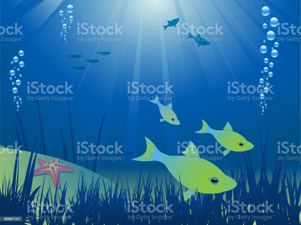 under the ocean royalty-free stock vector art